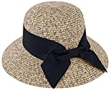 Summer Sun Hats for Women with Uv Protection Womens UPF 50 Wide Brim Hat Bucket Hat Foldable Straw Beach Hats for Women Travel UPF 50+ Pool Adult Sun Hat,Brown