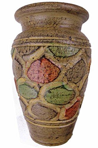 Rotfuchs® Vase en argile - 20 cm de haut - Fait main - Décoration - Beige