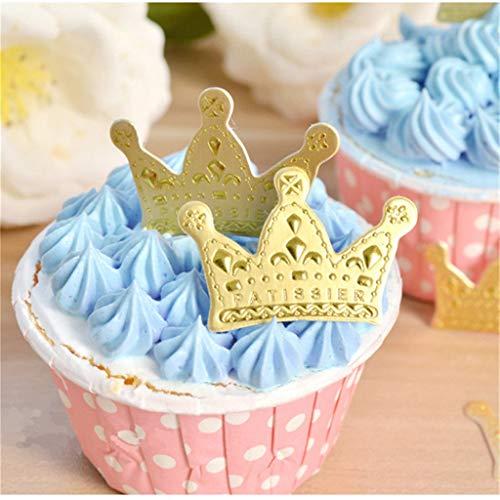 Q&A 500 Pcs Goldene Krone Cupcake Topper Kuchen Dekoration Geburtstag Party Favors