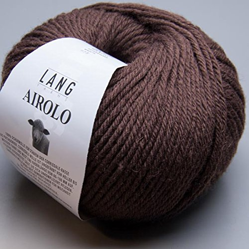 Lang Yarns Airolo 0068 chocolate brown 100g Wolle