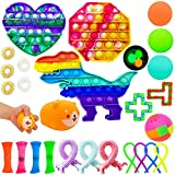 Sensory Fidget Toys Pack, 26 Pack Fidget Toys Push Pop Toys Relieves Stress and Anti-Anxiety Hand Sensory Toys for Kids Adults, Autism Therapy Toys, Special Puzzle Balls Birthday Party Favors Gifts