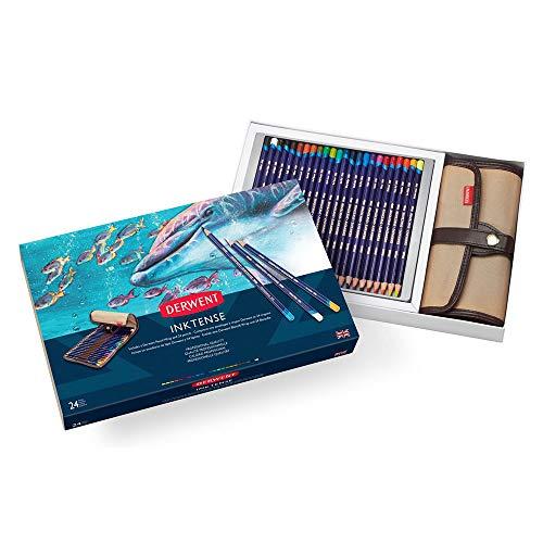 ダーウェント インクテンス 水彩 色鉛筆 24色 ラップセット キャンバスラップ ペンシルホルダー 付 2302163