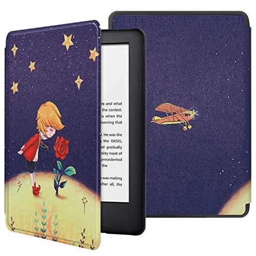 HoYiXi Funda para Nuevo Kindle 2019 Kindle Estuche 2019 Funda de Cuero Delgada con Auto Sueño/Estela Funcion Pintado Cover para Amazon de Kindle (10th Generation 2019 Release)