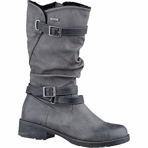 Indigo 422 735 Mädchen Winter Stiefel weiches Fleece Futter Black (31, Graphit)