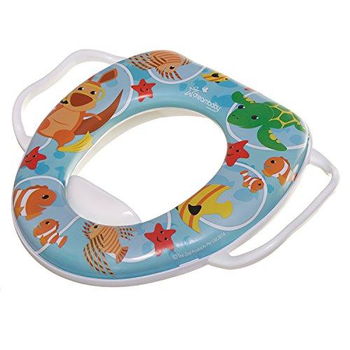Dreambaby F678 Toiletbril voor kinderen, toiletbril voor kinderen, toiletbril, met handgrepen voor gemakkelijk verwijderen, grappige diermotieven