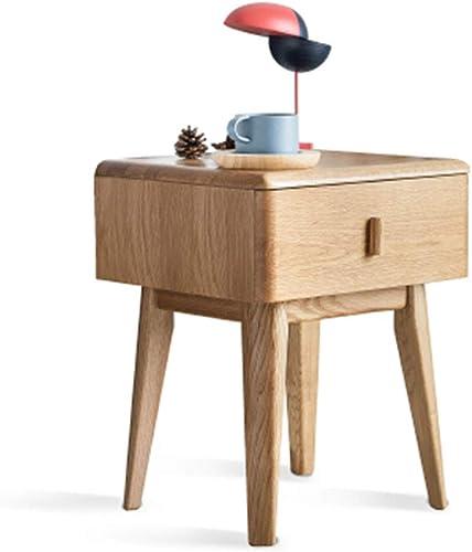 NAN Table de Chevet Armoire de pompage Simple en chêne Table de Chevet de Chambre à Coucher Moderne - 15.7 11.8  22 Pouces (Couleur   A)