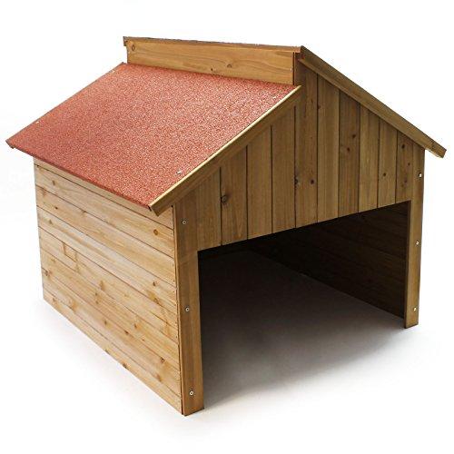 Wiltec Garage für Mährobotor aus Holz für alle gängigen Rasenroboter