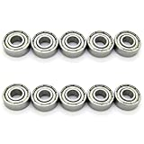 6x15x5mm Skateboard Bearings Steel Miniature Deep Groove Ball Bearing for Model Pack of 10