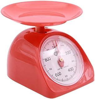 BESTONZON Balanza mecánica de cocina - Balanza precisa Preciso Baking confiable Cocción Pesaje de alimentos,Fácil lectura de esfera,Retro redondo,Color aleatorio