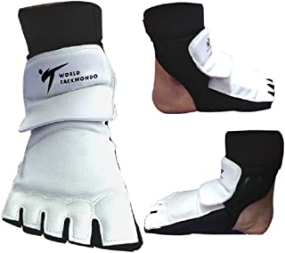 Aship Men Women Taekwondo Foot Protector Karate Boxing Foot Guard Martial Arts Training Fight Punch Bag Sparring MMA WTF for Children Kids Beginner Foot Gear