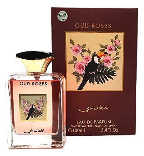 Eau de Parfum Oud Rose 100 ml de My Perfumes EDP para hombre y mujer, perfume de madera, Oud y rosa, perfume unisex