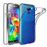 ebestStar - Funda Compatible con Samsung S5 G900F, Galaxy S5 New G903F Neo Carcasa Silicona, Protección Claro Ultra Slim, Transparente + Cristal Templado [Aparato: 142 x 72.5 x 8.1mm, 5.1'']