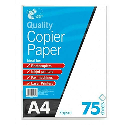 2 x A4 Copier Paper 75 Sheets 75gsm PHOTOCOPY, Laser & Inkjet Printer for Everyday