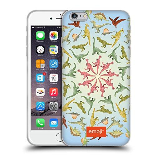 Head Case Designs Licenciado Oficialmente Emoji Mandala Dinosaurios Carcasa de Gel de Silicona Compatible con Apple iPhone 6 Plus/iPhone 6s Plus