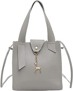 Everpert Women Mini Handbag Leather Small Messenger Tote Casual Pure Mini Shoulder Bags