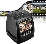 Kuyoly Escáner de película para Negativos y Diapositivas, Escáner de Alta resolución con 2,36' LCD, Convertidor No se Requiere PC y Software, Admite Tarjeta SD Apto para Oficina y electrodomésticos