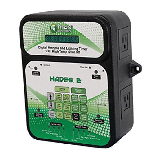 Titan Controls Digital Recycle & Light Timer w/ High Temp Shut-Off, 120V - Hades 2