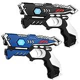 KidsFun Laser Tag Set: 2 Laserpistolen - Lasertag Spiel Set für Kinder Ab 7 Jahren