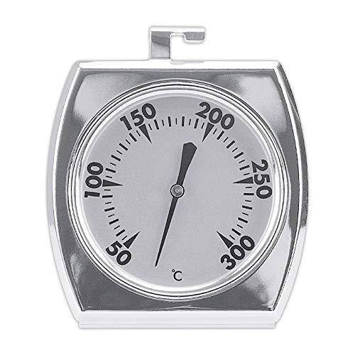 Städter Backofenthermometer 50-300°C, Edelstahl, Silber, 7 x 8.5 x 5 cm