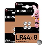 Duracell - LR44, Batteria Bottone al litio 1.5V, confezione da 8 ad apertura semplificata, (76A/A76/V13GA) progettate per l'uso in giocattoli, calcolatrici e dispositivi di misurazione