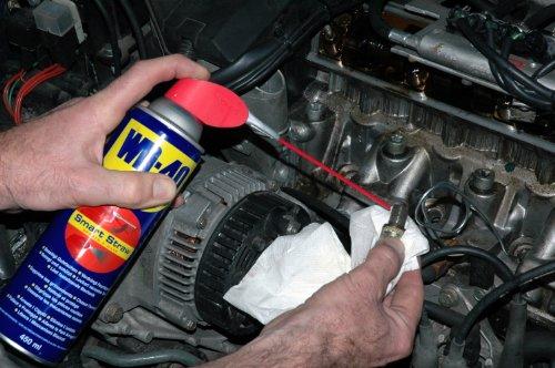 WD-40 Multifunktionsspray, Kontakt-, Teflon-Schmiermittel, Fahrrad-, Bike-, Auto-, Ketten-, Motorrad-Spray, 450-Ml Sprühdose, Smart-Straw, Blau - 5