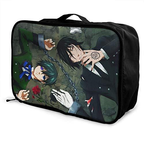 Anime Bla Butler Leichte große Caity-Reisetasche, tragbare Reisetasche, Lage-Trolley-Tasche, Reiseveranstalter-Tasche