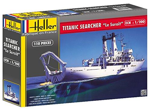 Heller 80615 - Modellino da Costruire, Titanic Searcher Le Suroit, Scala 1:200 [Importato da Francia]