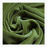 Stoff am Stück Stoff Baumwolle Polyester Nicki grün Nicky