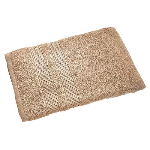 Price comparison product image iDesign Bath Towel,  Large Embellished Guest Towel Made of 100 Percent Cotton,  Soft Bath Sheet for Shower,  Bath and Sauna,  Beige