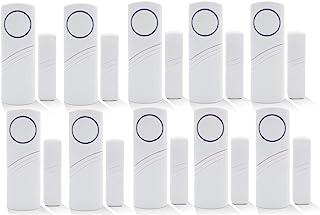 Wireless Home Security Alarm System DIY Kit - Magnetic Sensor - Guardian Protector - Window Glass Vibration Security Burglar Alarm for Homes, Cars, Sheds, Caravans, Motorhomes - Price Xes (Set of 10)