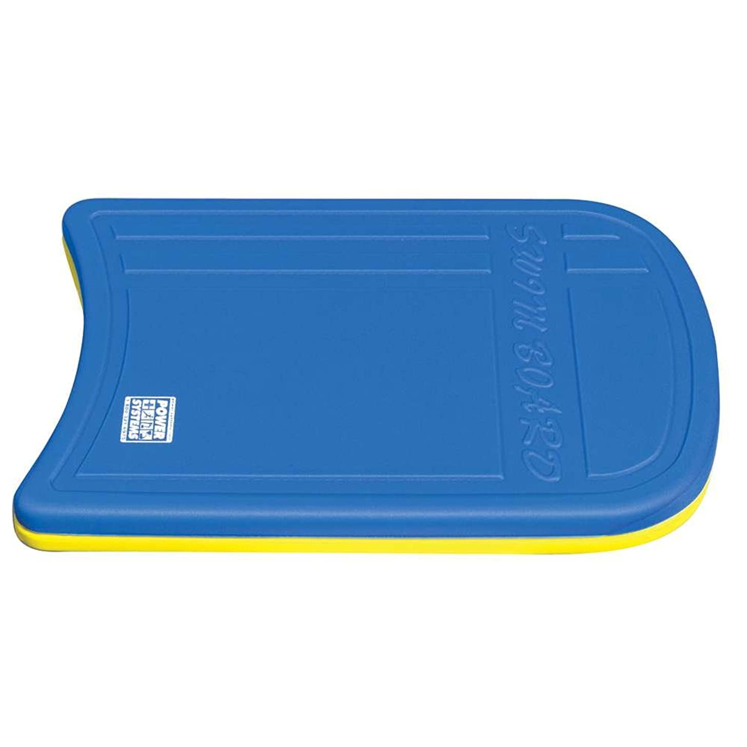 Power Systems Kickboard for Swim Fitness Training, 19 x 12 x 1.5 Inches, Blue/Yellow (86690)