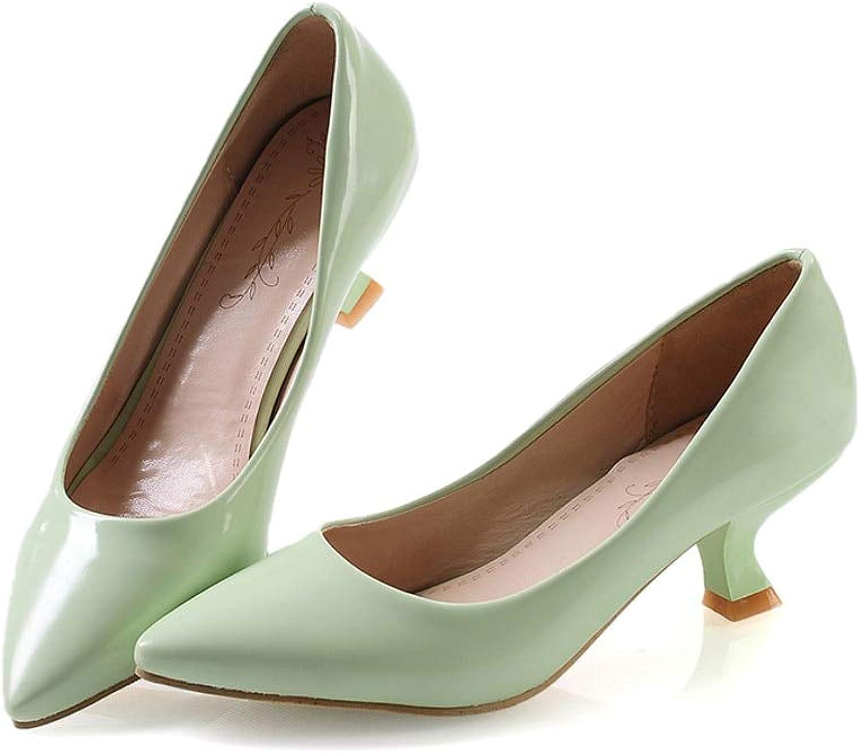 MENGLTX High Heels Sandalen Frauen Pumps Frühling Sommer Einfache Mode Flache Kleid Schuhe Spitz Komfortable High Heels Schuhe B07QL1BWWH  Freizeit