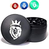 KING KANABIS Large Metal Herb Grinder with Catcher 2 inch / 2.5 inch