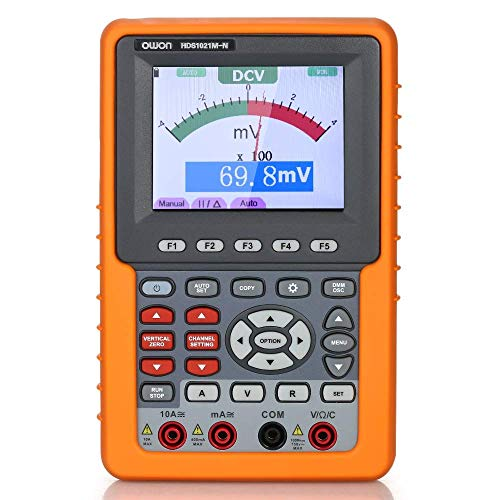 DONDOW Multímetro instrumento preciso HDS1021M-N de almacenamiento digital de un solo canal Osciloscopio y multímetro de 20 MHz de ancho de banda 500M / s Frecuencia de muestreo