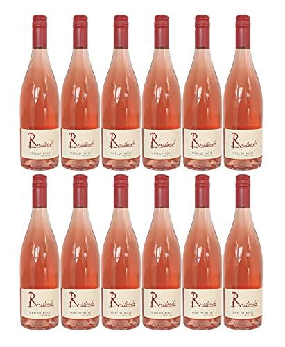 Russbach Merlot Rosé trocken, Weingut Russbach, Eppelsheim, Rheinhessen, Jahrgang 2020 (12 x 0,75 l)