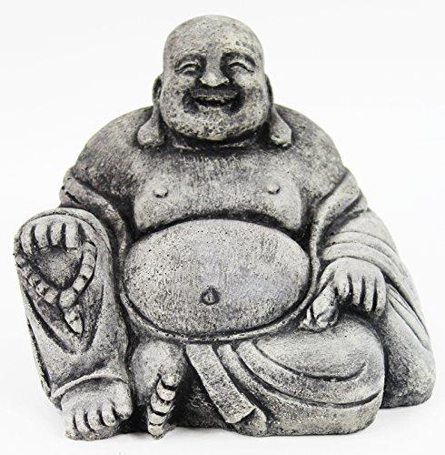Fleur de Lis Garden Ornaments LLC Happy Buddha Concrete Statue