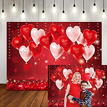 LTLYH 7x5ft Mother s Day Backdrop Valentine s Day Background Red Hearts Balloons Love Theme Party Bridal Shower Photo Booth Studio Props 126