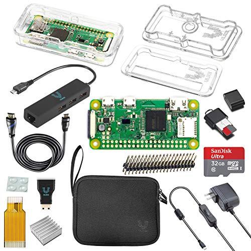 Vilros Raspberry Pi Zero W MAX Kit (Clear Case)