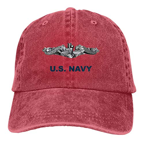 Casquette de baseball en jean US Submarine Force Silent Service