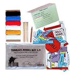 Field Ready Sand Table Kit; ready to get you a GO The only TMK that can be written on in the rain Compact; Affordable; Durable; Practical; Made in America Includes full set of PLT and SQD symbols on water proof card stock; 5 colors of yarn 10 foot ea...