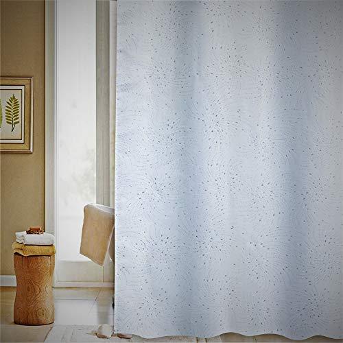 YOUNIQUA Duschvorhang DIAMOND SPIRAL WHITE 180x180 cm Vorhang