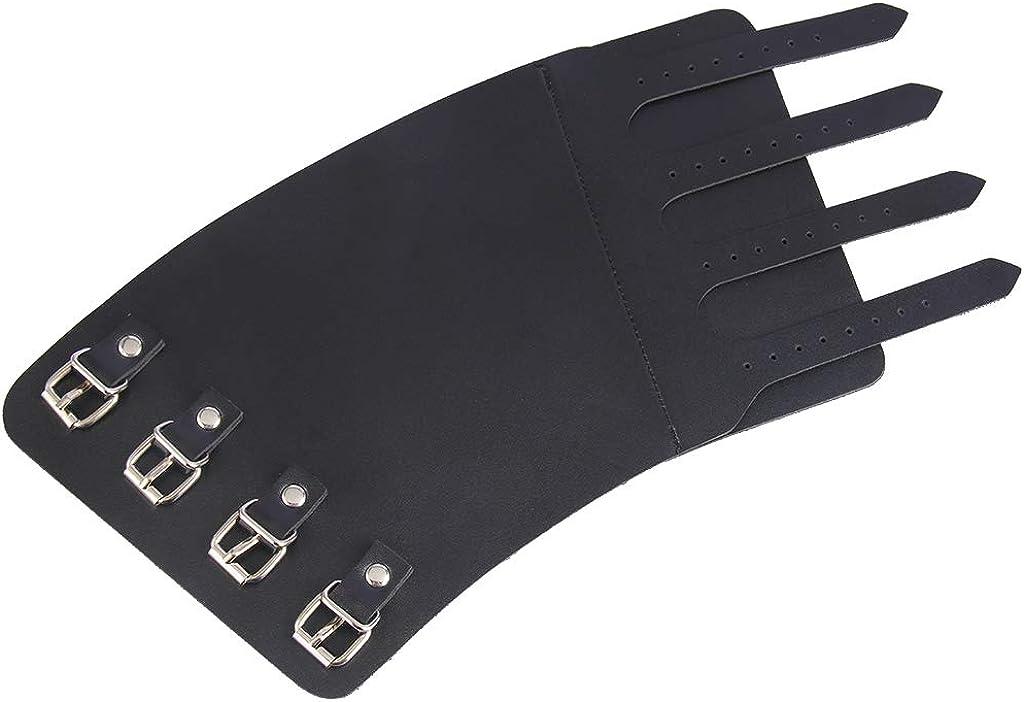 joyMerit 4 Layer Wide Belt Wrap Pu Leather Wristband Cuff Bracelet Bangle Adjustable