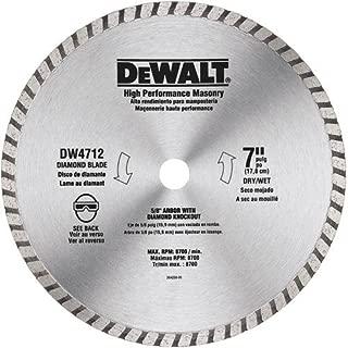 DEWALT 7-Inch Circular Saw Blade, Diamond Masonry, 3-Pack (DW4712B3)
