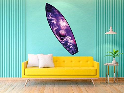 Oedim Tabla de Surf Universo | 150x45cm | Fabricado en Vinilo Adhesivo Resistente y Económico | Pegatina Adhesiva Decorativa de Diseño Elegante
