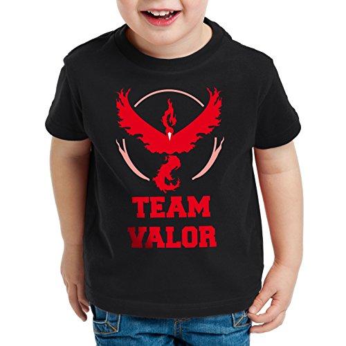 CottonCloud Team Valor Kinder T-Shirt Rot Red Wagemut, Farbe:Schwarz, Größe:164