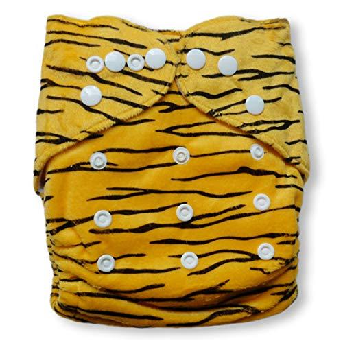 Baby Vivo Baby Bambus Windel Stoffwindel Babytuch Kinderwindel Windel Bambuswindel Mehrzweck Windel Waschbar Wiederverwendbar mit 2 Einlagen - Tiger