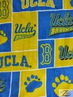 UCLA BRUINS SQUARES NCAA COLLEGE PRINT POLAR FLEECE FABRIC 60