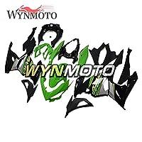 WYNMOTOオートバイ外装部品SportbikeフルフェアリングキットはKawasaki Ninja 400 2018 2019 2020 Ninja-400 18-20 ABSプラスチックインジェクションボディワークグリーンブラックシルバーに適用