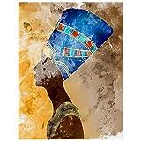 5d diamante arte egiziana vecchio affresco icona regina nefertiti, kit pittura diamante, pittura diamante con numeri, quadri pittura diamante arti artigianato per la decorazione della parete di casa