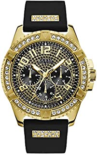 Guess Sport Watch for Men, Stainless Steel Case, Black Dial, Analog -W1132G1